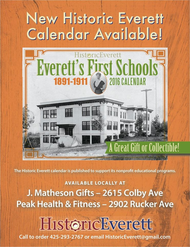 2016 Calendar on sale – Historic Everett