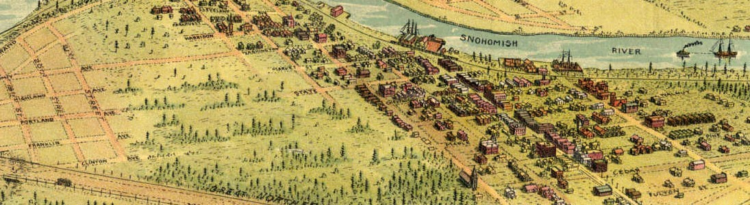 Riverside, 1893, from the Birds Eye view of the Brown and Brown map